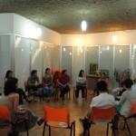 Roda de bate-papo com os produtores de Efeito Reciclagem, Rodrigo Furuta e Manu Muniz; representantes do movimento Limpa Brasil (Augusto e Giovana) + participantes