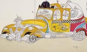 Taxi, Saul Steinberg
