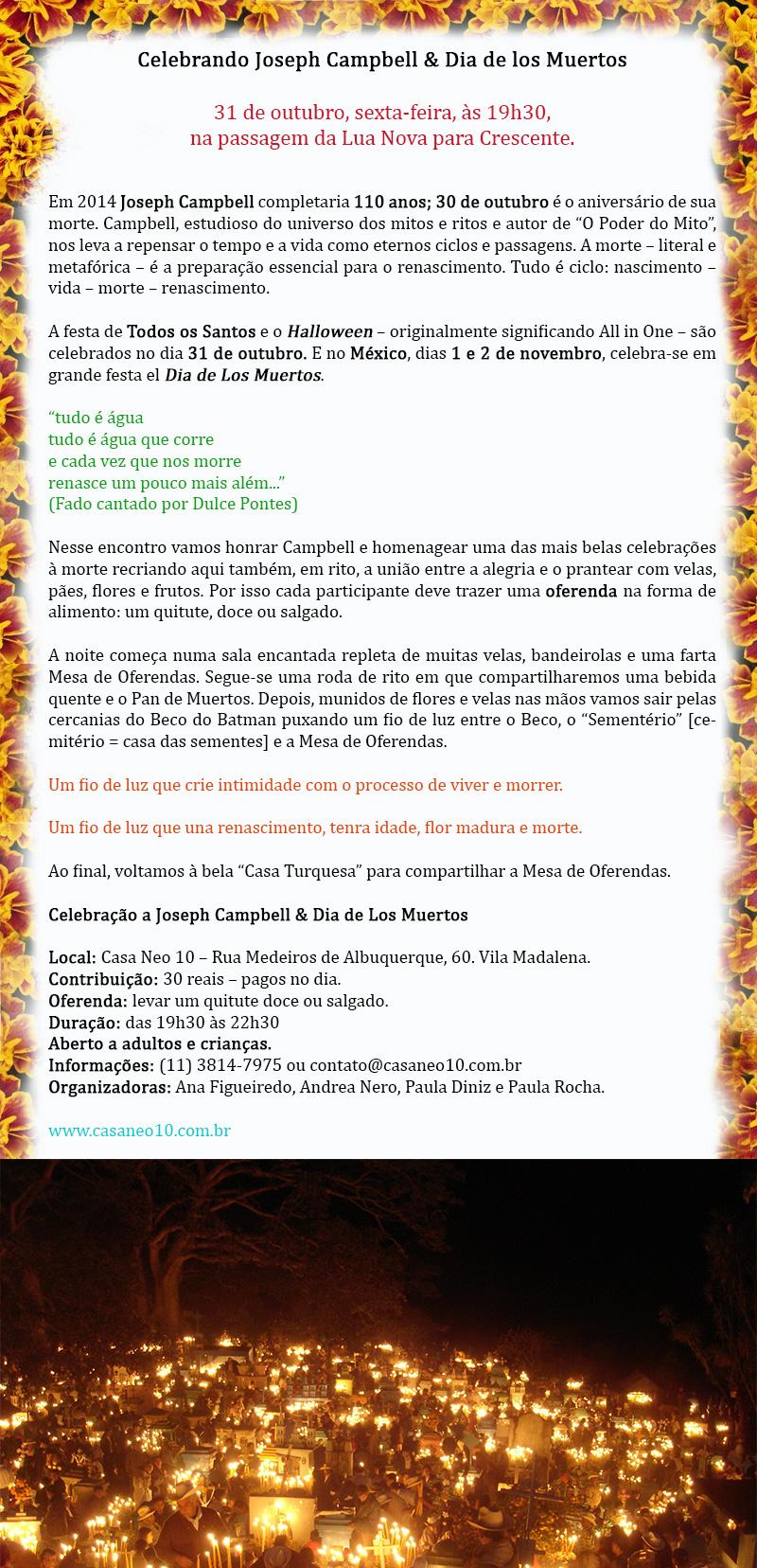 Celebrando Joseph Campbell & Dia de los Muertos